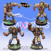 Egyptian / Undead - Set of 4  Egyptian Mummies - Willy Miniatures