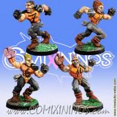 Humans - Set of 4 Catchers - Meiko Miniatures
