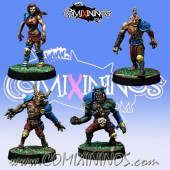 Undead / Necromantic - Set of 4 Racial Zombies - Willy Miniatures