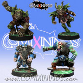 Undead / Necromantic - Set B of 4 Racial Zombies - Meiko Miniatures