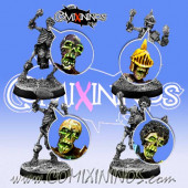 Set of 4 Skeleton Heads - Meiko Miniatures