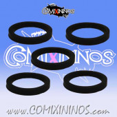 Skill Markers - Set of 5 Black Rubber Deluxe Rings - Comixininos