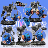 Set of 7 Big Guy Shoulder Pads - Meiko