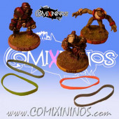 Set of 8 Standard Rubber Skill Rings Multi Color - Comixininos