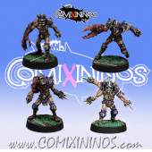 Evil Pact - Set of 4 Mutated Marauders - Meiko Miniatures
