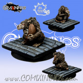 One Ratmen Reroll and Turn Metal Counter - Meiko Miniatures