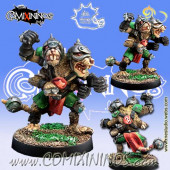 Ratmen - Hamflek Star Player with Two Heads - Meiko Miniatures