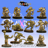 Ratmen - Team of 12 Players without Rat Ogre - Uscarl Miniatures