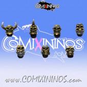 Skull Tribe Heads Set of 10 - MaxMini