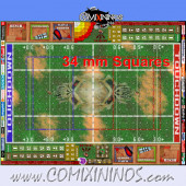 34 mm Skulls Plastic Gaming Mat with BB7 and Crossed Dugouts - Comixininos