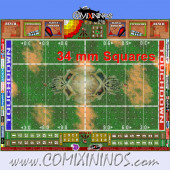 34 mm Skulls Plastic Gaming Mat with Parallel Dugouts - Comixininos
