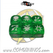Set of 3 Green Block Dice - SP Miniaturas