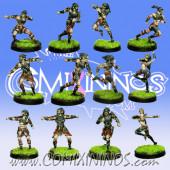 Dark Elves - Tanatos Dark Elf Team of 12 Players - MK1881