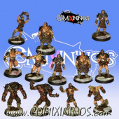 Norses - Team of 12 Players without Snow Troll - Uscarl Miniatures