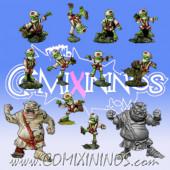 Goblins - Resin Tengu Team of 12 Players with two Ogres - Rolljordan