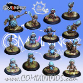Halflings - Puppet All-Stars Team of 14 Players with Big Guy - Meiko Miniatures