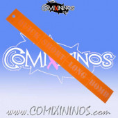 Rigid Fantasy Football Passing Ruler - Transparent Orange