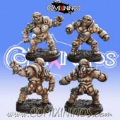 Orcs - Set B of 2 Orc Linewomen nº 3 and nº 4 – Baueda