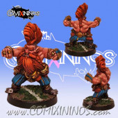 Dwarves - Grimm Troll Slayer Star Player - Willy Miniatures