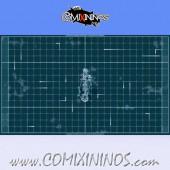 Tron Playing Board - Foldable Rigid Cardboard - Dado