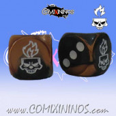 Set of 2d6 Undead Dice - Willy