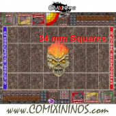 34 mm Undead Plastic Gaming Mat with Crossed Dugouts - Comixininos