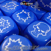 Set of 3 Blue Block Dice - Willy Miniatures