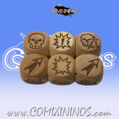 Set of 3 Meiko Block Dice Standard Size 16 mm - Wooden