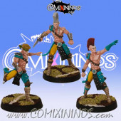 Wood Elves - Set of 3 Elf Star Players - SP Miniaturas