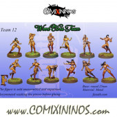 Wood Elves - Wood Elf Team of 12 Players - Fanath Arts