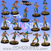 Wood Elves - Forest Elf Team of 14 Players - SP Miniaturas