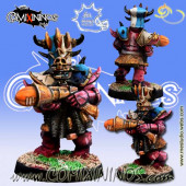 Evil Dwarves - Zargh Crazy Eye Star Player with Blunderbuss - Meiko Miniatures
