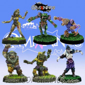Undead / Necromantic - Pack 3 of 6 Racial Zombies - Rolljordan