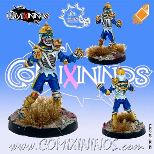 Fantasy Football Undead SKELETON Poncho for Blood Bowl Meiko Miniatures