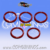 Set of 5 Agility -1 Skill Rings for 25 mm Bases - Comixininos