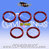 Set of 5 Armour -1 Skill Rings for 25 mm Bases - Comixininos