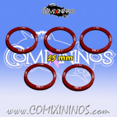 Set of 5 Movement -1 Skill Rings for 25 mm Bases - Comixininos