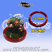 Set of 5 Movement -1 Skill Rings for 32 mm Bases - Comixininos