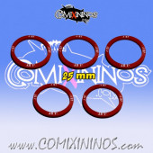 Set of 5 Strength -1 Skill Rings for 25 mm Bases - Comixininos