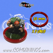 Set of 5 Strength -1 Skill Rings for 32 mm Bases - Comixininos