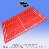 Red Felt Gaming Mat - Comixininos