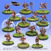 Halflings - Resin Buzzed Bumblebees Set of 14 Halflings - Iron Golems
