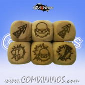 Set of 3 Dwarf Block Dice Standard Size 16 mm - Wooden