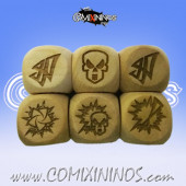 Set of 3 Elf  Block Dice Standard Size 16 mm - Wooden