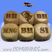 1d6 Meiko Injury Dice Large Size 20 mm - Wooden