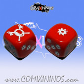 Set of 2d6 Red Amazon Dice - Akaro