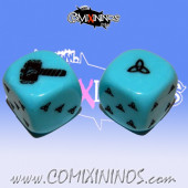 Set of 2d6 Norse Dice nº 2 Orange - Akaro