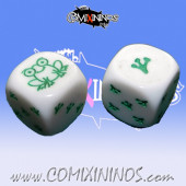 Set of 2d6 Frogmen Dice - Akaro