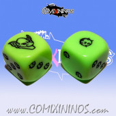 Set of 2d6 Goblin Dice - Akaro
