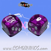 Set of 2d6 Necromantic Dice - Akaro